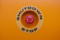 Arrêtez le bouton rouge Photographie stock libre de droits