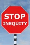 Arrêtez le concept d'injustice Image libre de droits
