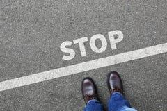 Arrêtez le concept de attente d'homme d'affaires d'homme d'affaires d'attente Image libre de droits