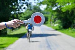 Arrêtez le cycliste Photos stock