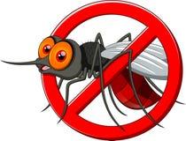 Arrêtez le dessin animé de moustique Image libre de droits