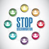 arrêtez le diagramme de personnes de diversité de discrimination Photographie stock