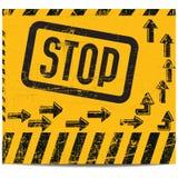 Arrêtez le drapeau Photo libre de droits