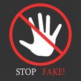 Arrêtez le faux Photographie stock libre de droits