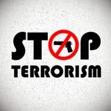 Arrêtez le fond de terrorisme Photo libre de droits