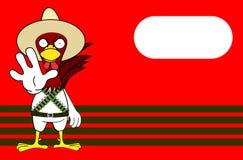 Arrêtez le fond mexicain de bande dessinée d'expressions de poulet illustration de vecteur