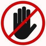 Arrêtez le noir de main illustration libre de droits