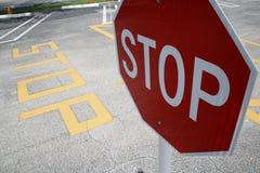 Arrêtez le parking de connexion Photographie stock