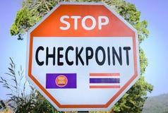 Arrêtez le point de contrôle de frontière Photos libres de droits