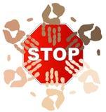Arrêtez le racisme Image libre de droits