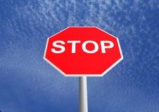 Arrêtez le signe Images libres de droits