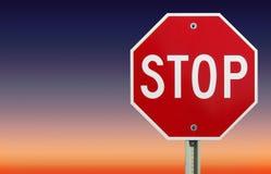 Arrêtez le signe Image stock