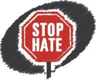 Arrêtez le signe d'arrêt de haine Photos stock