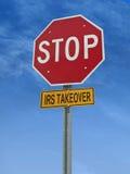 Arrêtez le signe de courrier de prise de contrôle d'IRS Image libre de droits