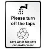 Arrêtez le signe de l'information de l'eau illustration libre de droits