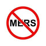 Arrêtez le signe de mers Signe d'interdiction de pour des mers Image stock
