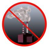 Arrêtez le signe de pollution illustration stock