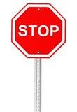 Arrêtez le signe de route Photos libres de droits