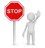 Arrêtez le signe de route Photographie stock libre de droits