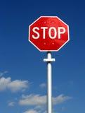 Arrêtez le signe et le Pôle - verticale photographie stock