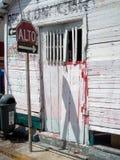 Arrêtez le signe, Isla Mujeres, Mexique Photos libres de droits