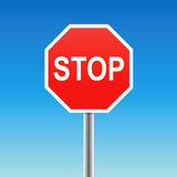 Arrêtez le signe (le vecteur) Photographie stock