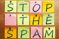 Arrêtez le Spam Images stock