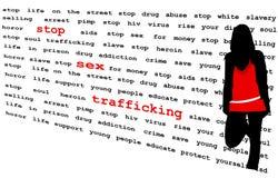 Arrêtez le trafic de sexe Photo stock