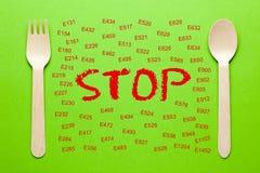 Arrêtez les additifs interdits image libre de droits