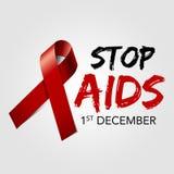 Arrêtez les aides Facilite la bande de rouge de conscience Vecteur eps10 Photos libres de droits