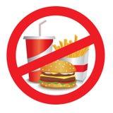 Arrêtez les aliments de préparation rapide illustration de vecteur