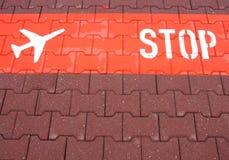Arrêtez les avions Photographie stock libre de droits