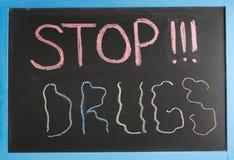 Arrêtez les drogues photographie stock libre de droits