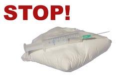 Arrêtez les drogues et le dopage photos stock