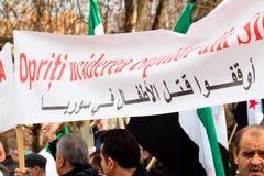 Arrêtez les gosses de massacre en Syrie Photo stock