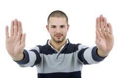 Arrêtez les mains photographie stock libre de droits