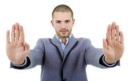 Arrêtez les mains image libre de droits