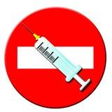 Arrêtez les narcotiques illustration de vecteur