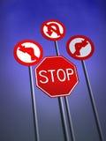 Arrêtez les poteaux de signalisation Images libres de droits