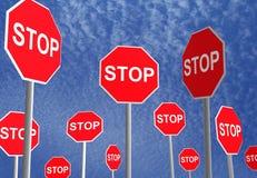 Arrêtez les signes Photo libre de droits