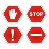 Arrêtez les signes illustration de vecteur