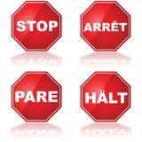 ARRÊTEZ les signes Image stock