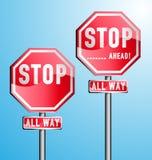 Arrêtez les signes réglés Illustration Libre de Droits