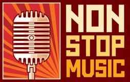 Arrêtez non la musique Photos stock