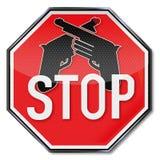 Arrêtez pour des armes Photo libre de droits