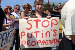 Arrêtez Poutine Photographie stock