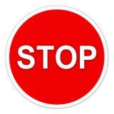 Arrêtez se connectent le blanc Photo libre de droits