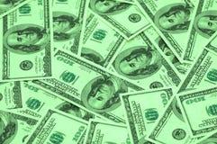 Arra van honderd dollarsbankbiljetten Stock Foto