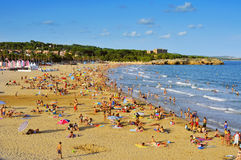 Arrabassada Beach in Tarragona, Spain Royalty Free Stock Images
