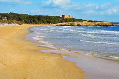 arrabassada plażowy Spain Tarragona Zdjęcia Royalty Free